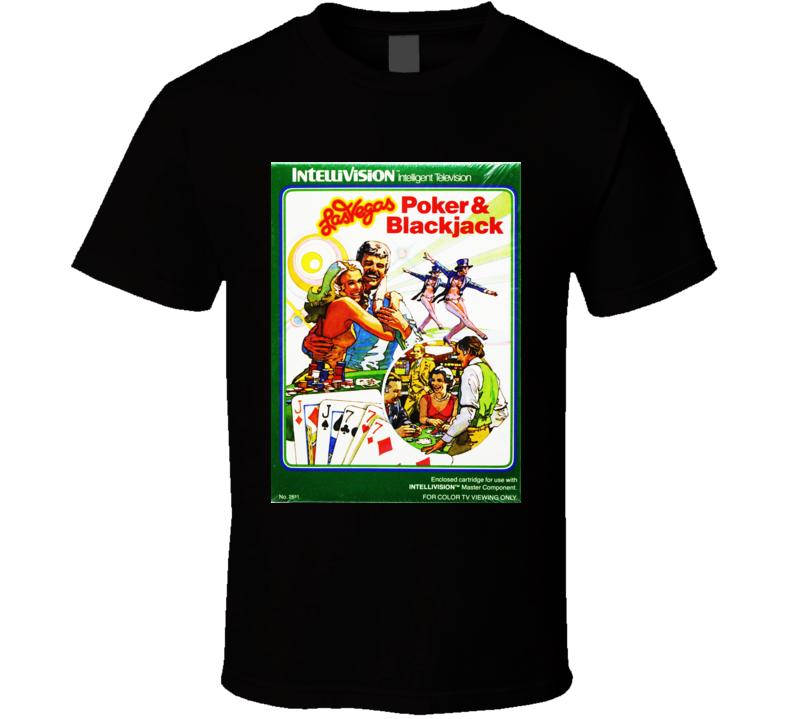 Las Vegas Poker & Blackjack Classic Video Game Cartridge Retro Gift T Shirt