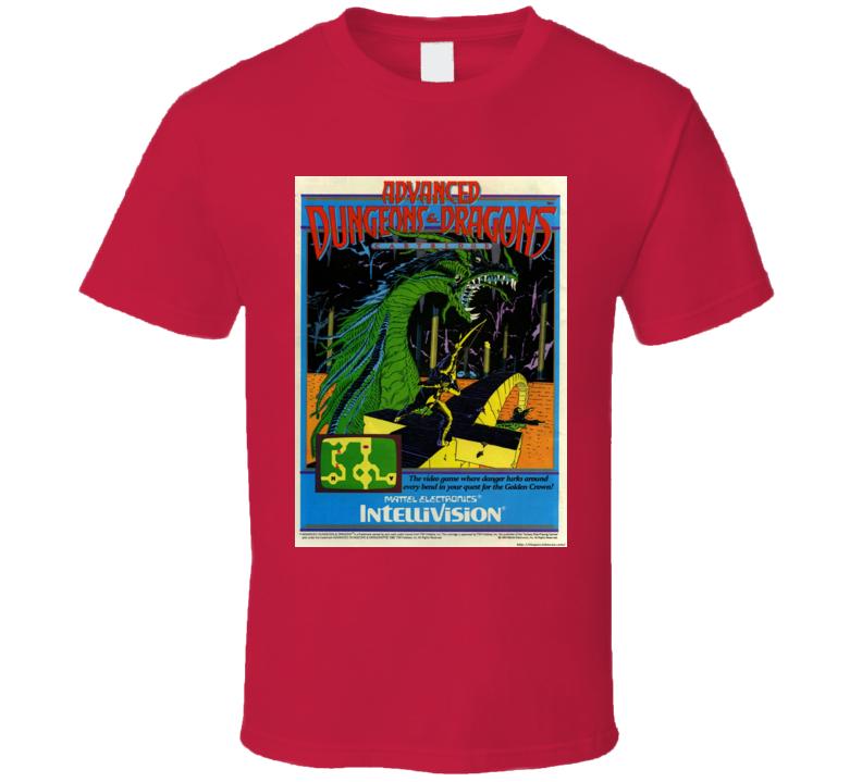 Advanced Dungeons & Dragons Cloudy Mountain Classic Video Game Cartridge Retro Gift T Shirt