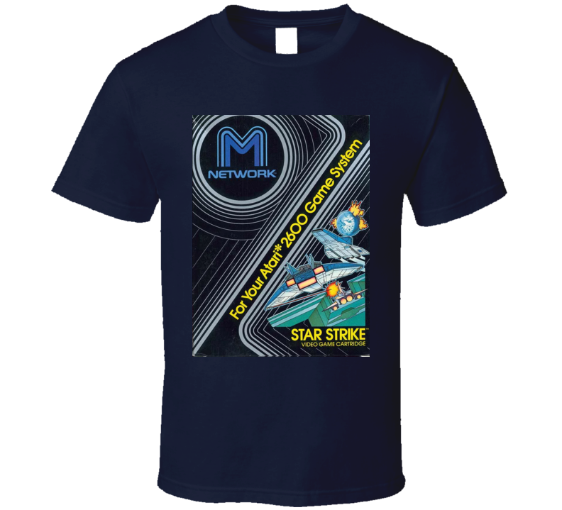 Star Strike Classic Video Game Cartridge Retro Gift T Shirt