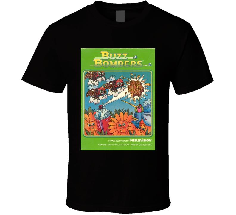 Buzz Bombers Classic Video Game Cartridge Retro Gift T Shirt