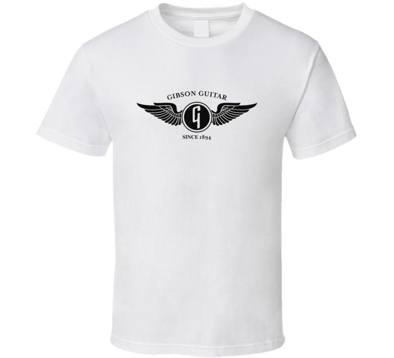 Gibson Guitar Flying G Black Logo T Shirt