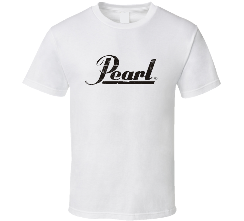 Pearl Drums Black Distressed Logo T Shirt