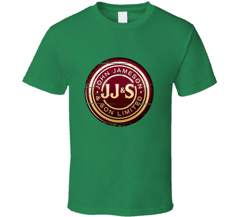 John Jameson Irish Whisky Aged Look Logo T Shirt
