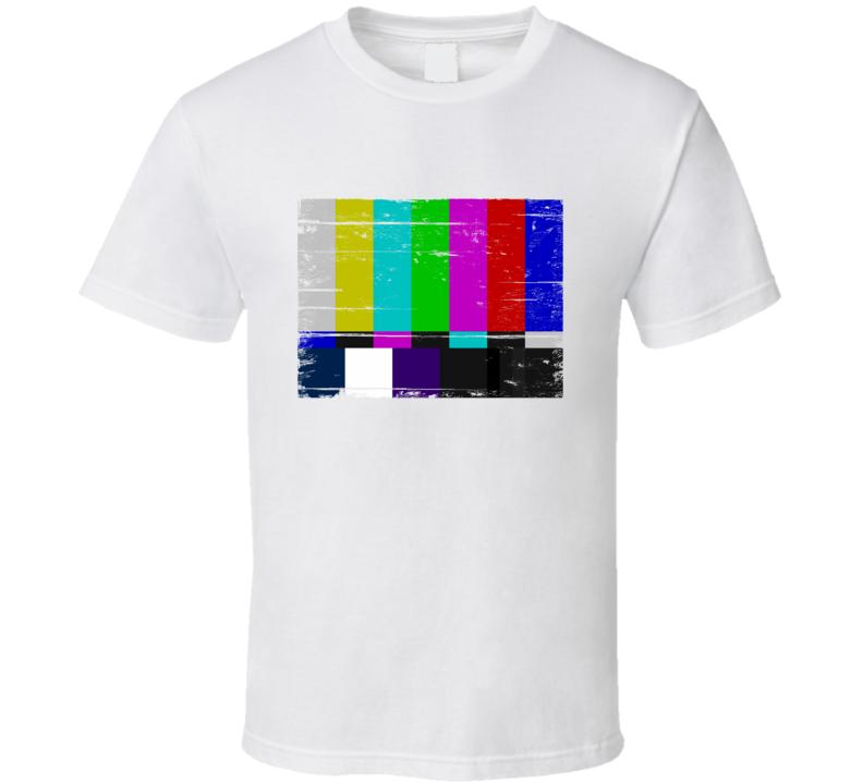 TV Test Pattern Aged Look Vintage T Shirt