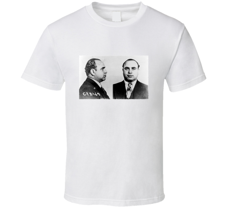 Al Capone Gangster Mugshot Vintage T Shirt