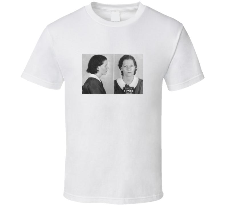 Bonnie Parker Bonnie and Clyde Mugshot Picture Vintage Look T Shirt