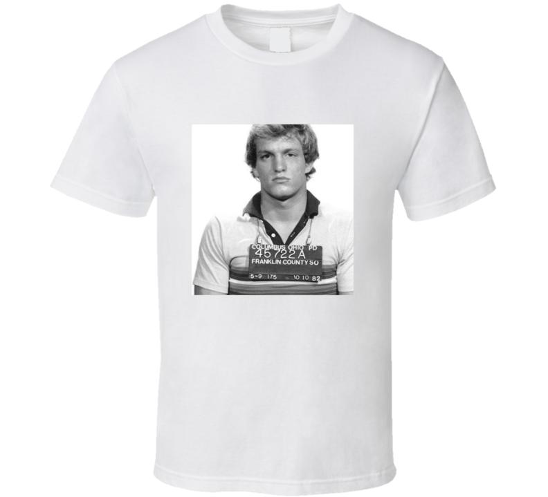 Woody Harrelson Mugshot Vintage Look T Shirt