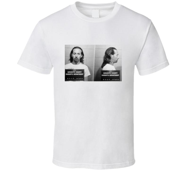 Pee Wee Herman Mugshot Vintage Look T Shirt