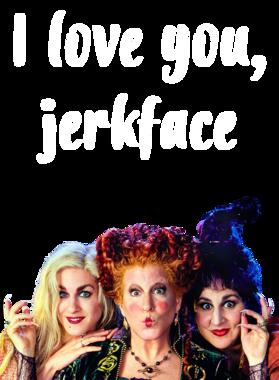 I Love You, Jerkface Hocus Pocus Sanderson Sisters T Shirt