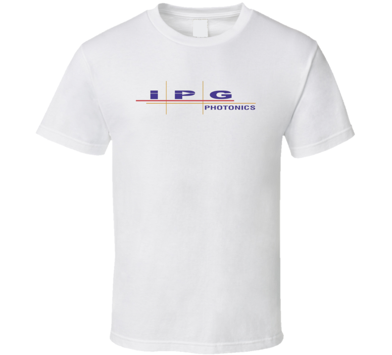 Ipg Photonics Corporation Nasdaq Company Logo Employee Fan T Shirt