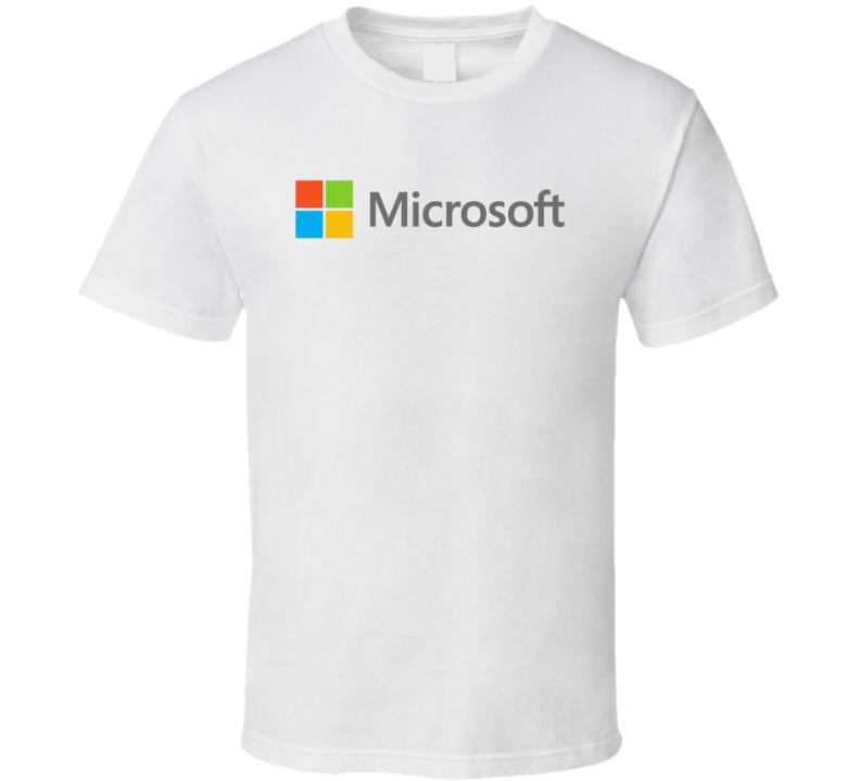 Microsoft Corporation Nasdaq Company Logo Employee Fan T Shirt