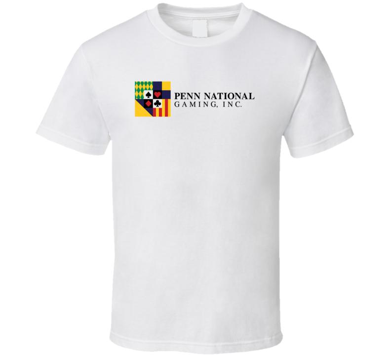 Penn National Gaming Inc Nasdaq Company Logo Employee Fan T Shirt