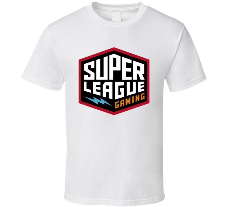 Super League Gaming Inc Nasdaq Company Logo Employee Fan T Shirt