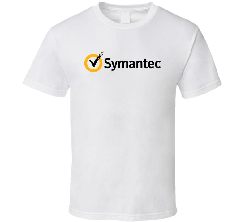 Symantec Corporation Nasdaq Company Logo Employee Fan T Shirt