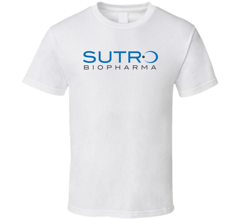 Sutro Biopharma Inc Nasdaq Company Logo Employee Fan T Shirt