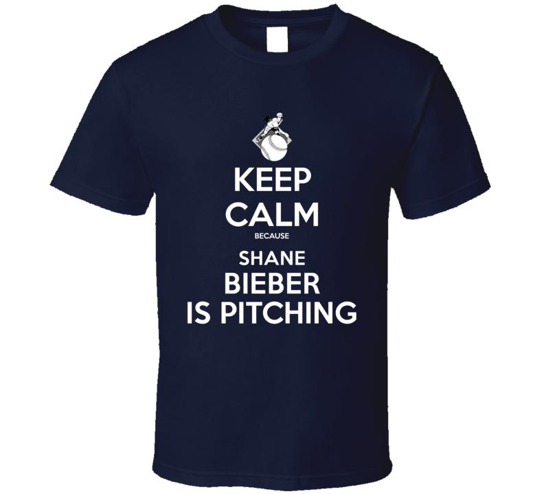 Keep Calm Shane Bieber Is Pitching Cleveland Baseball T Shirt