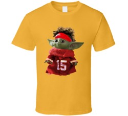 Patrick Mahomes Baby Yoda The Child Football T Shirt