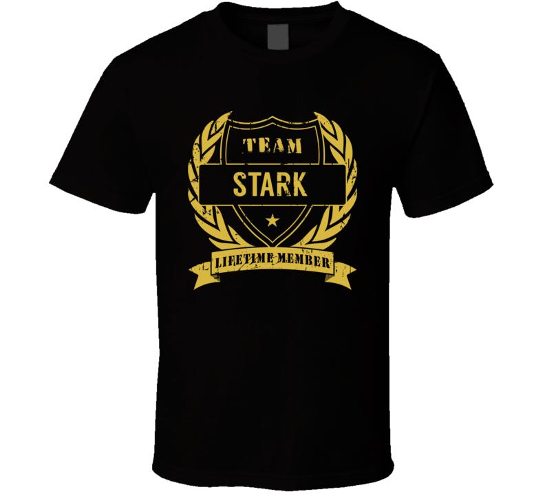 Team Stark Lifetime Member Last Name Surname T Shirt