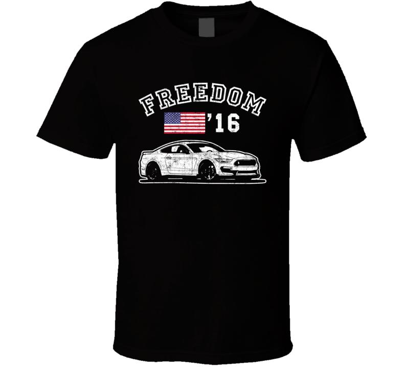 2016 Shelby Gt350 Freedom Car Fan Worn Look T Shirt