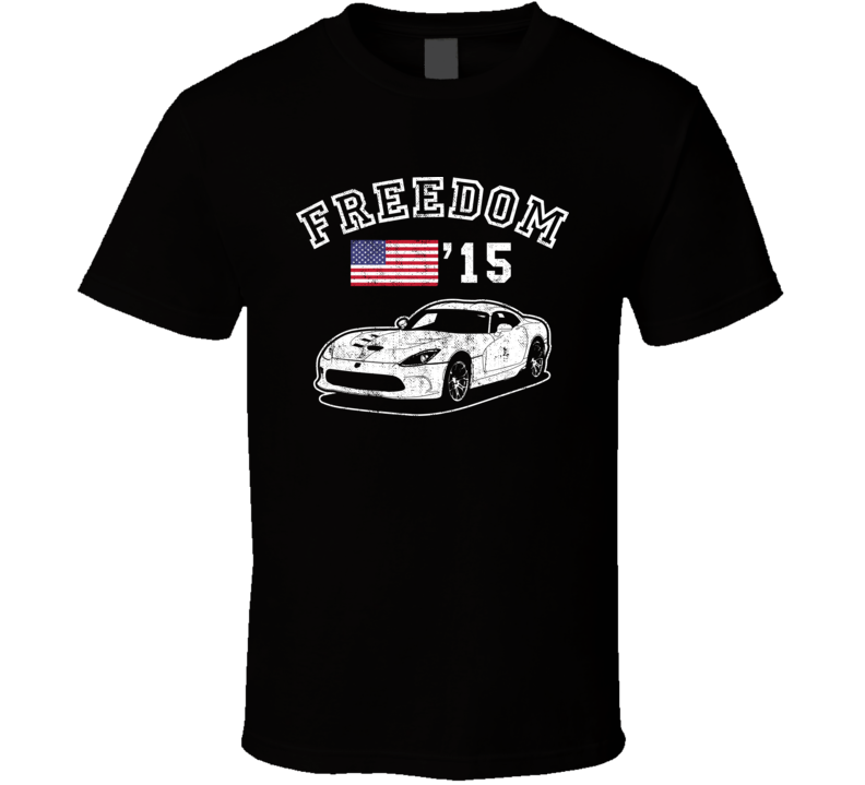 2015 Dodge Viper Freedom Car Fan Worn Look T Shirt