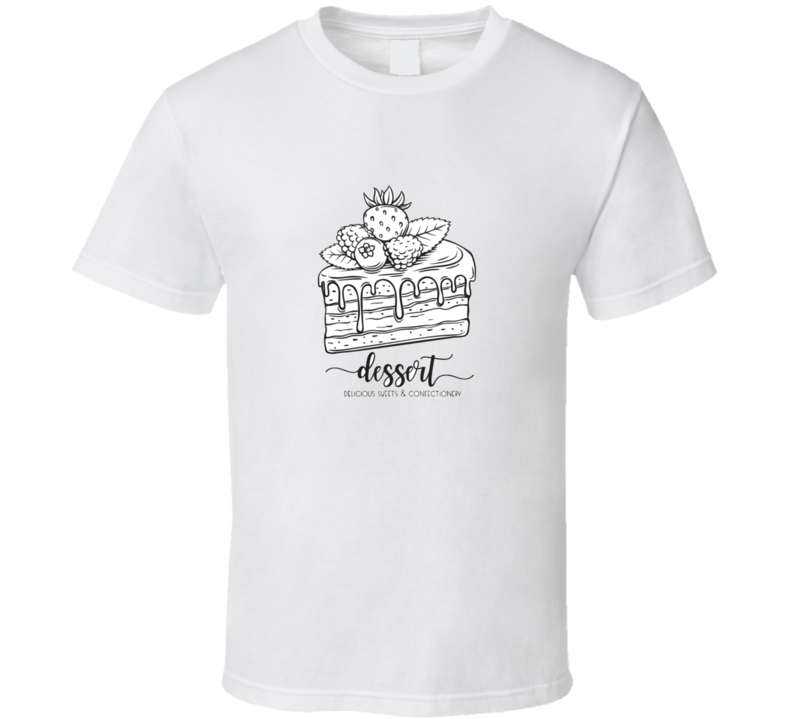 Vector Hand Drawn Cake Icon Piece Of Chocolate Dessert Confectionery With And For T Shirt