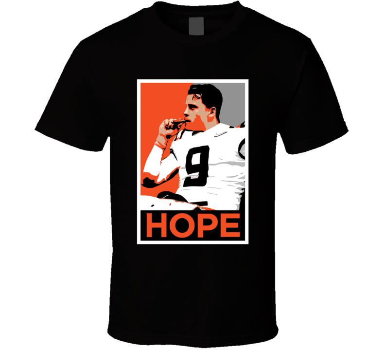 Joe Burrow Smoking Cigar Champ Hope Poster Cincinnati Football Fan T Shirt