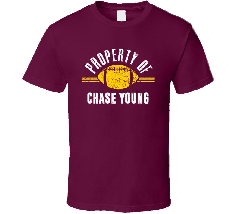 Property Of Chase Young Washington Football  T Shirt