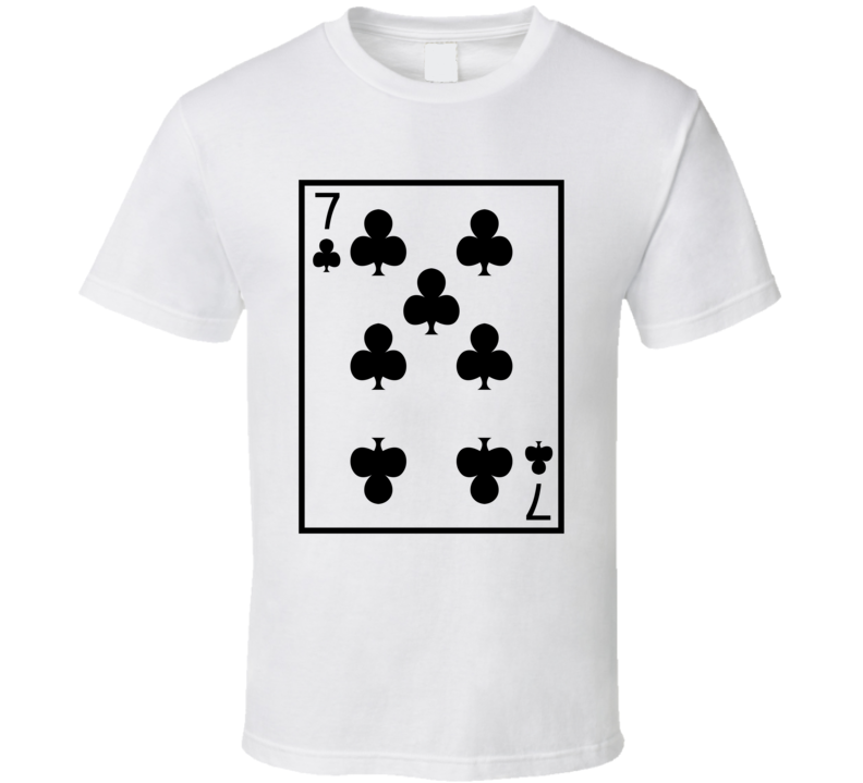 Seven Of Clubs Playing Card Funny Halloween Costume T Shirt