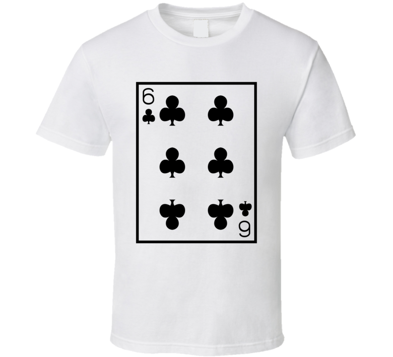 Six Of Clubs Playing Card Funny Halloween Costume T Shirt