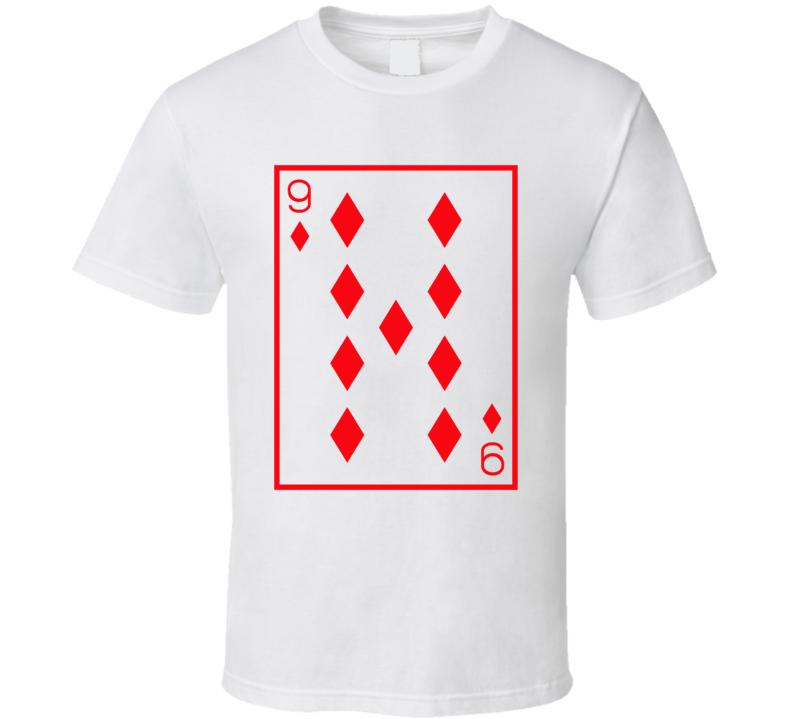 Nine Of Diamonds Playing Card Funny Halloween Costume T Shirt