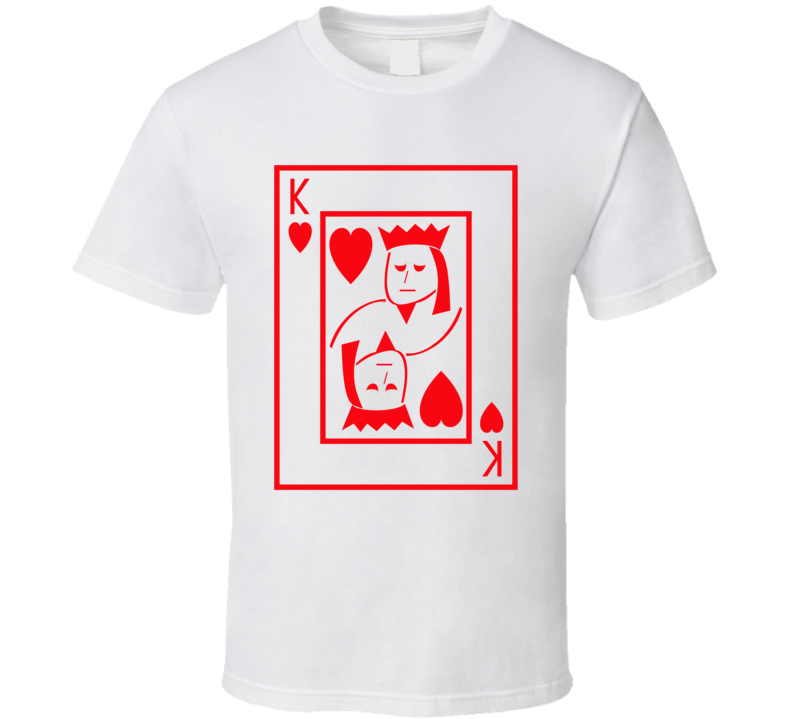 King Of Hearts Playing Card Funny Halloween Costume T Shirt