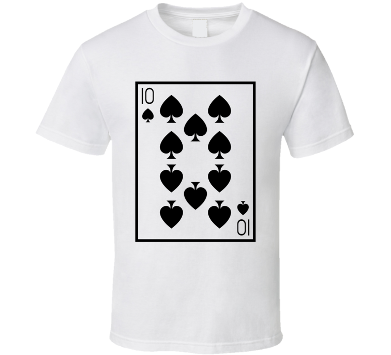 Ten Of Spades Playing Card Funny Halloween Costume T Shirt