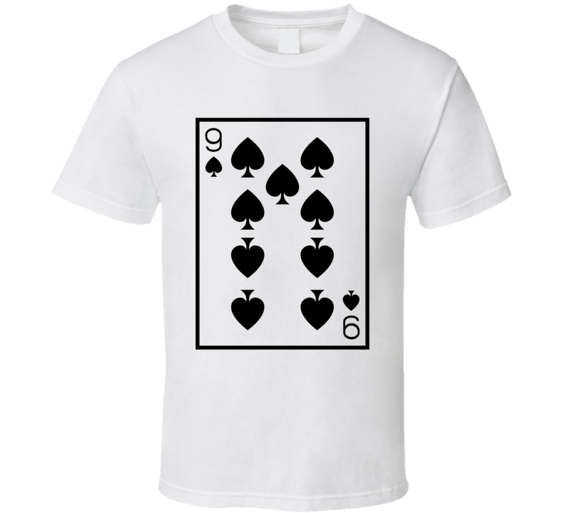 Nine Of Spades Playing Card Funny Halloween Costume T Shirt