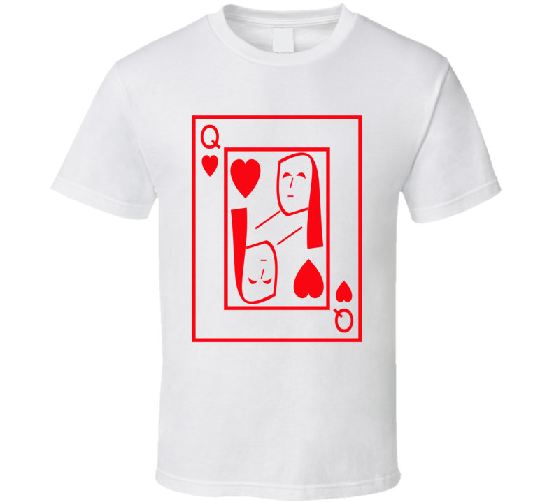 Queen Of Hearts Playing Card Funny Halloween Costume T Shirt