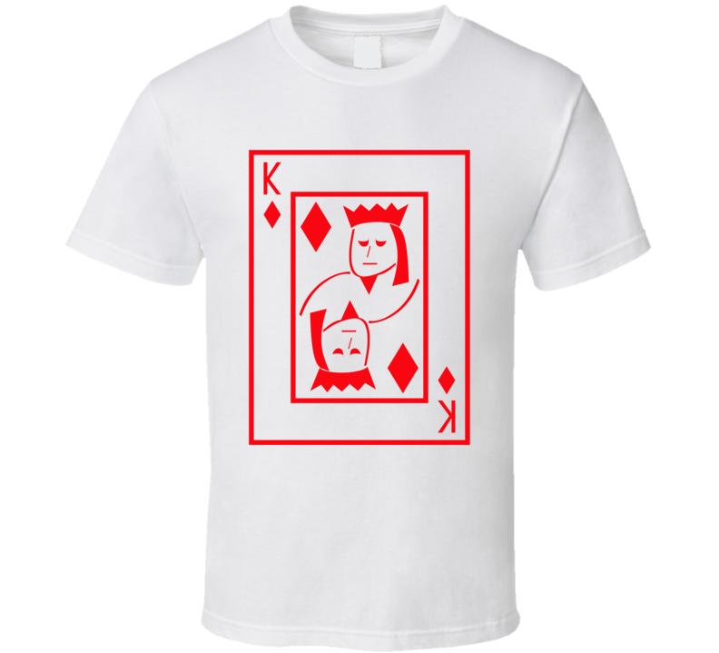 King Of Diamonds Playing Card Funny Halloween Costume T Shirt