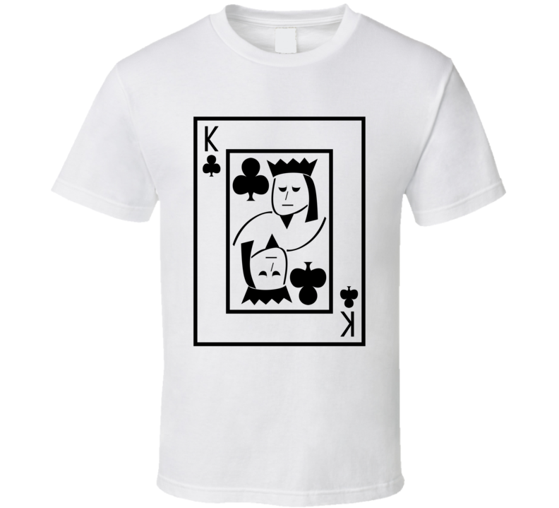 King Of Clubs Playing Card Funny Halloween Costume T Shirt