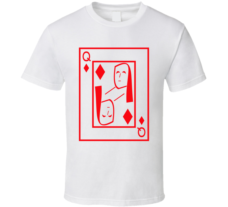 Queen Of Diamonds Playing Card Funny Halloween Costume T Shirt