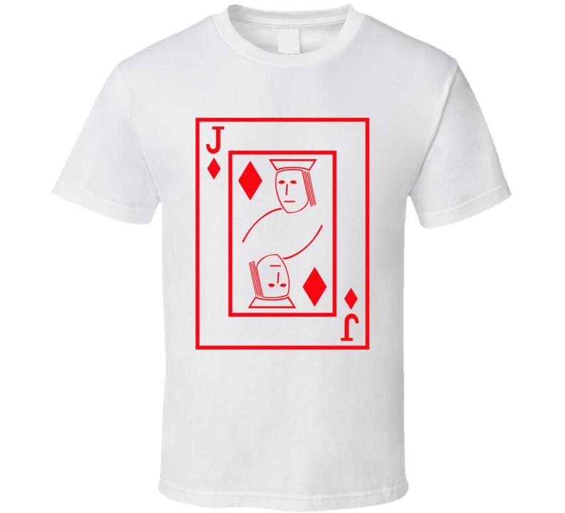 Jack Of Diamonds Playing Card Funny Halloween Costume T Shirt