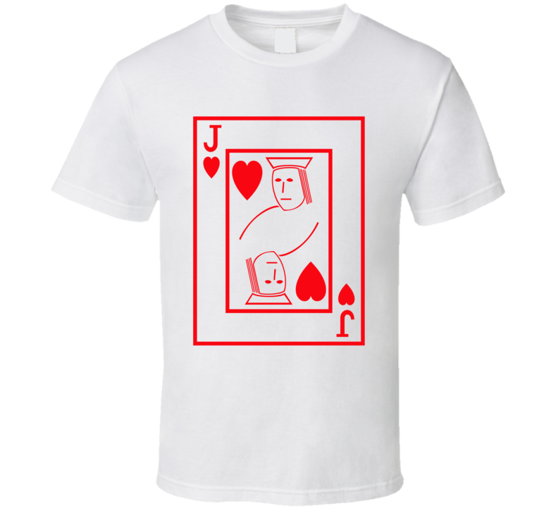 Jack Of Hearts Playing Card Funny Halloween Costume T Shirt