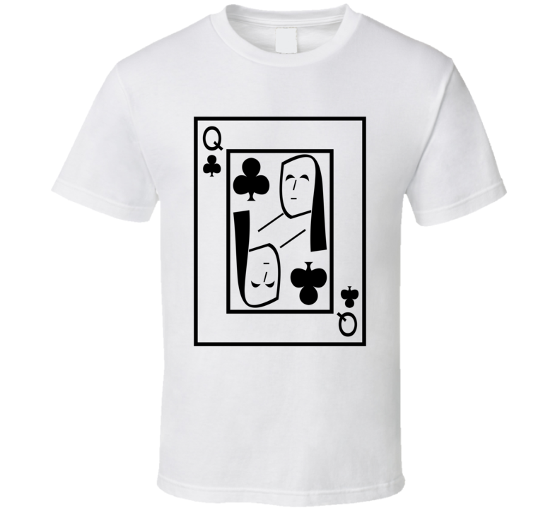 Queen Of Clubs Playing Card Funny Halloween Costume T Shirt