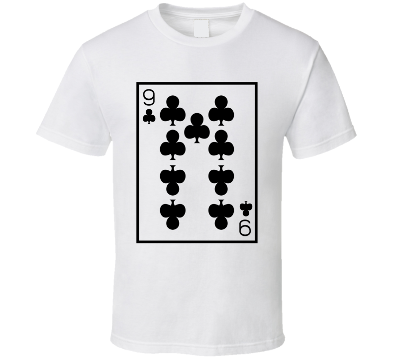 Nine Of Clubs Playing Card Funny Halloween Costume T Shirt