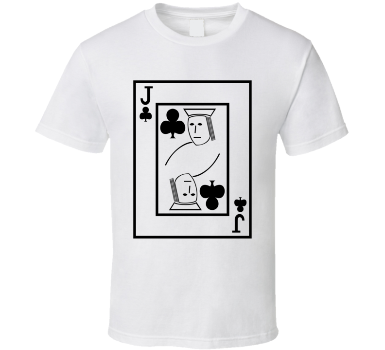 Jack Of Clubs Playing Card Funny Halloween Costume T Shirt