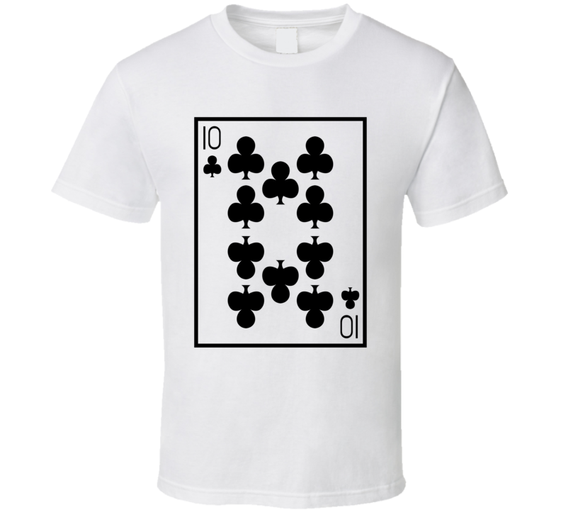 Ten Of Clubs Playing Card Funny Halloween Costume T Shirt