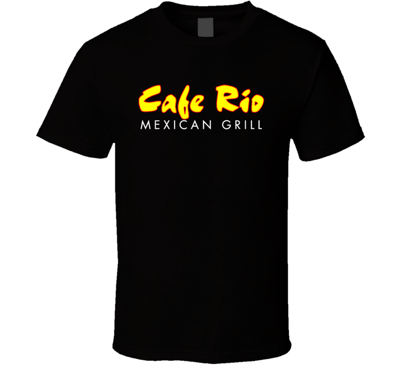 Cafe Rio Mexican Grill Food Restaurant Logo Cool T Shirt