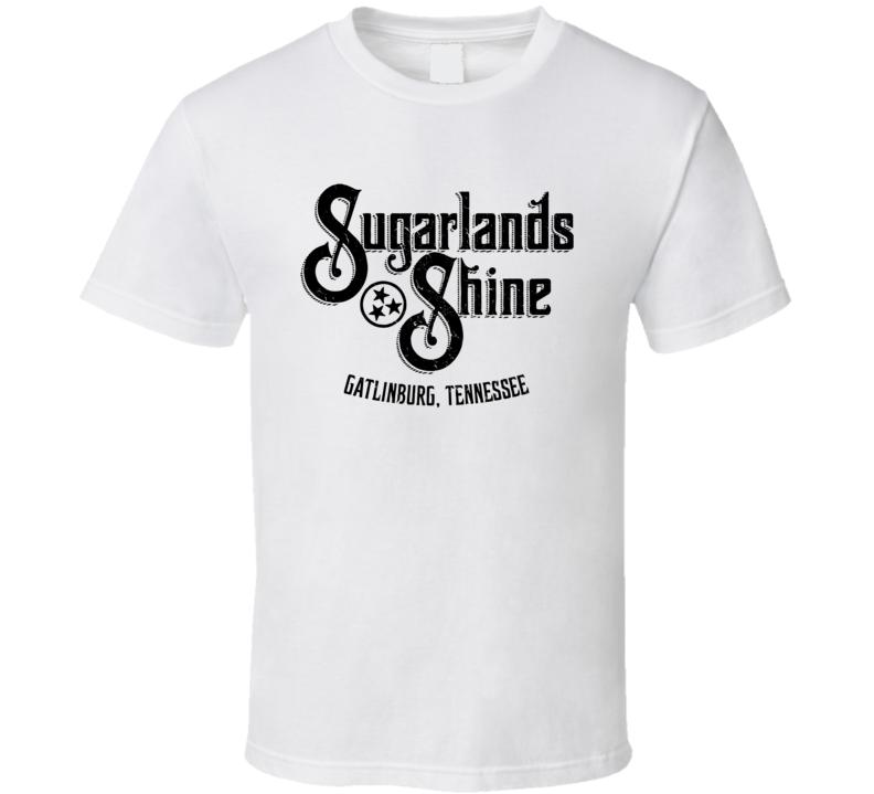 Sugarlands Shine Moonshine Tennessee Whiskey Label Logo T Shirt