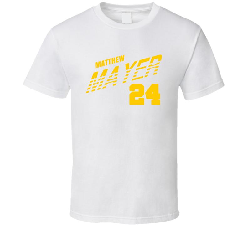 Matthew Mayer 24 Favorite Player Baylor College Basketball T Shirt