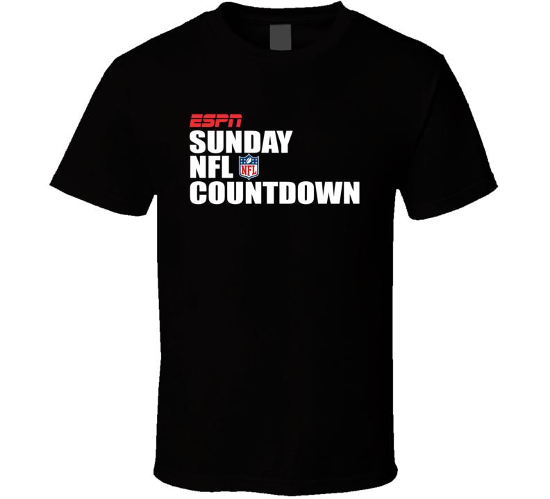 Espn Sunday Football Countdown Sports T Shirt