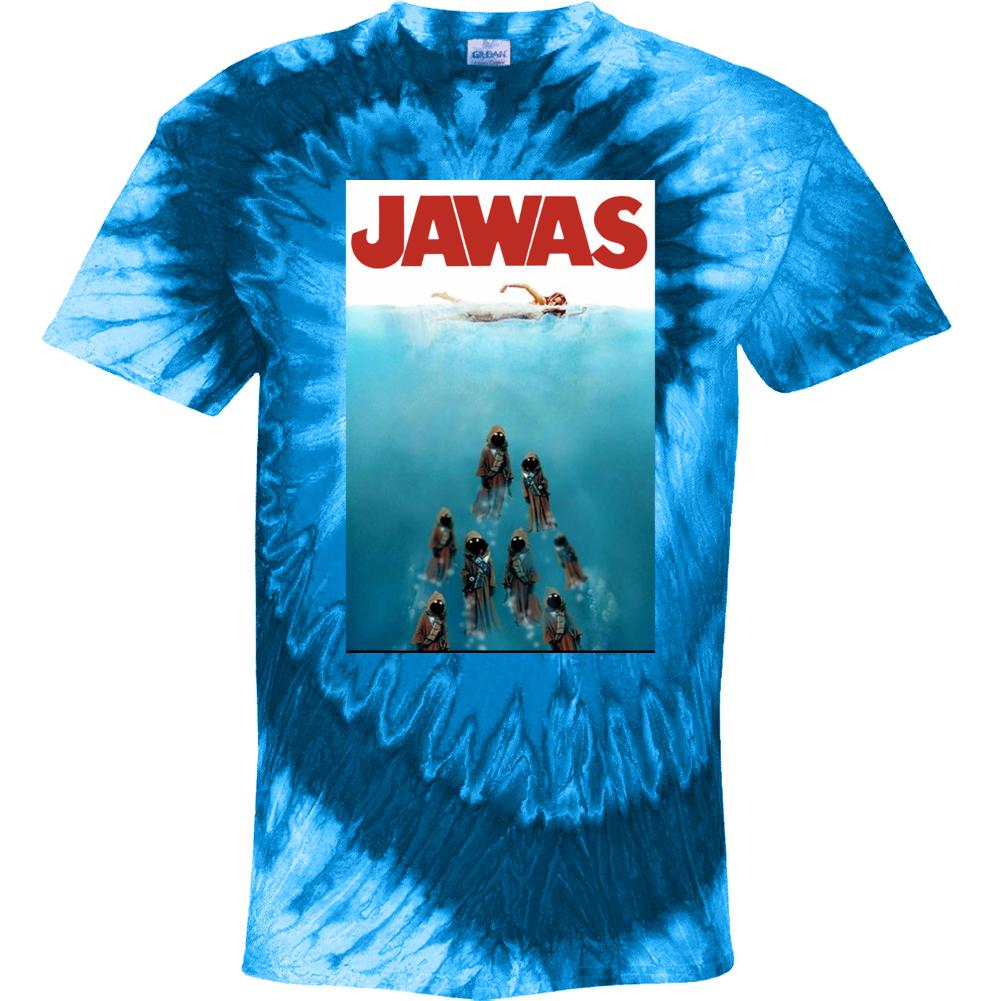 Jawas Jaws Star Wars Mashup Parody Tie Dye