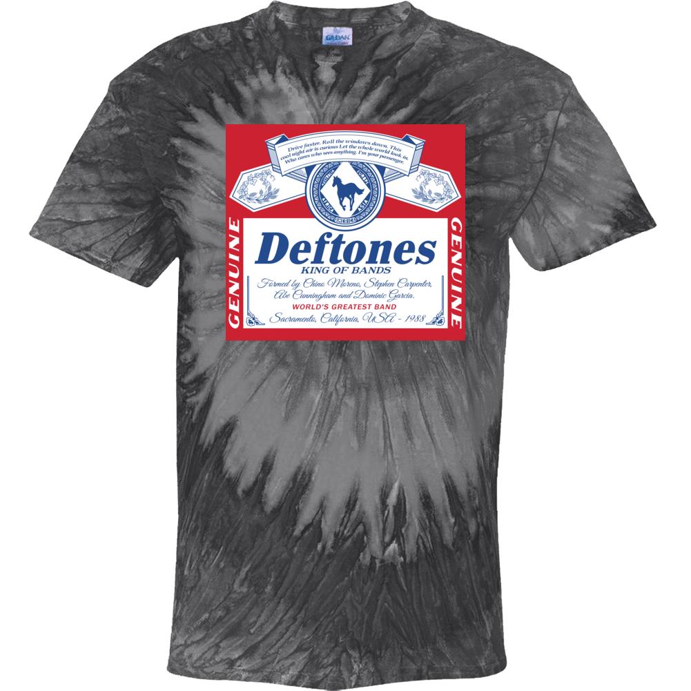 Deftones King Of Bands Alt Rock Beer Label Logo Mashup Parody Music Fan Tie Dye