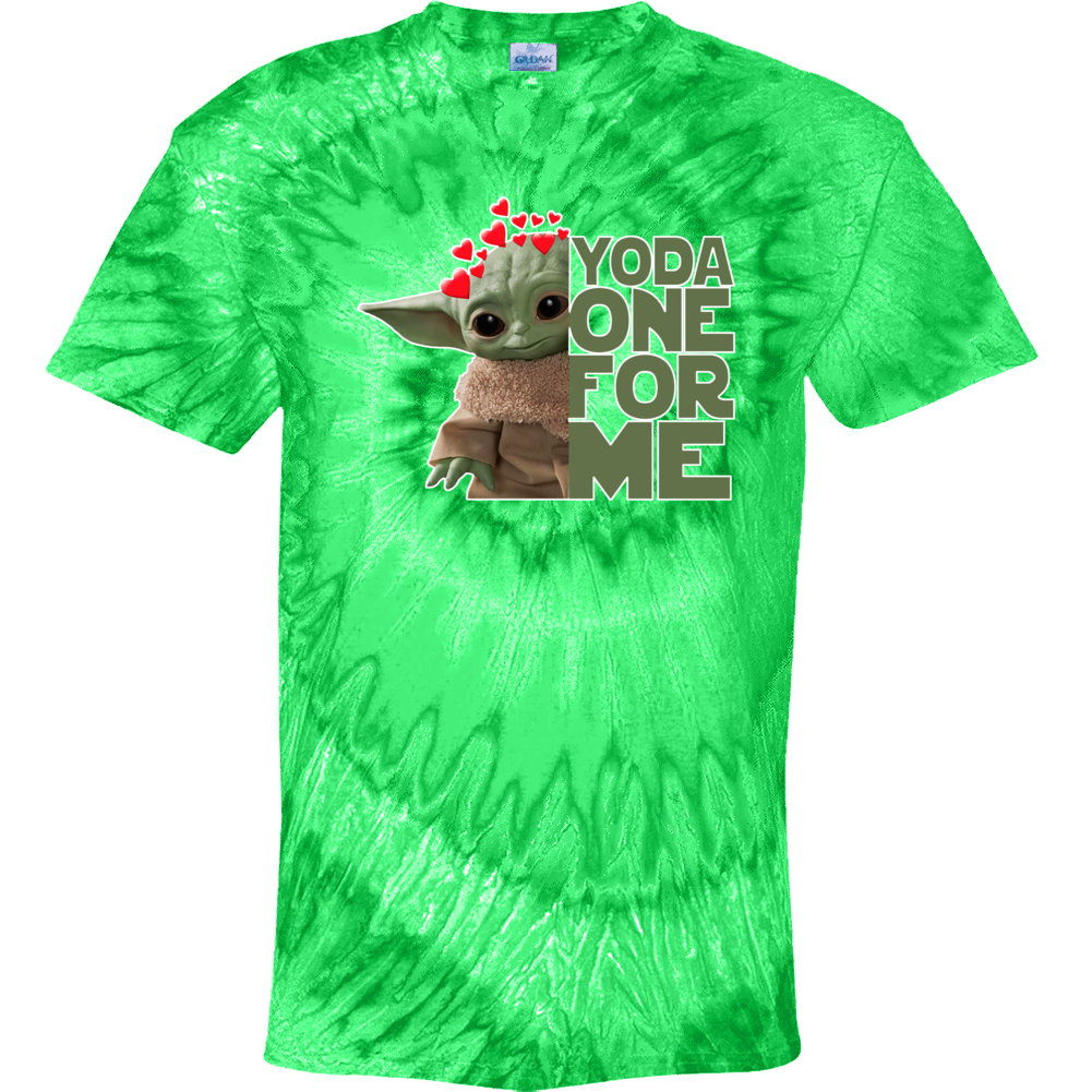 Yoda One For Me Cute Baby Yoda The Child Valentines Tie Dye